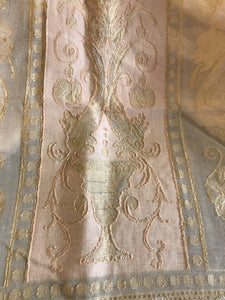 "Antique design Gold Griffin Madras lace curtain panel 66""/90"""