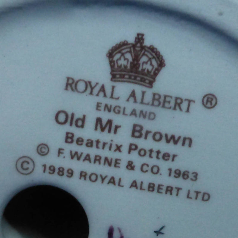 Royal Albert Beartrix Potter Figurine - Old Mr Brown (Boxed)