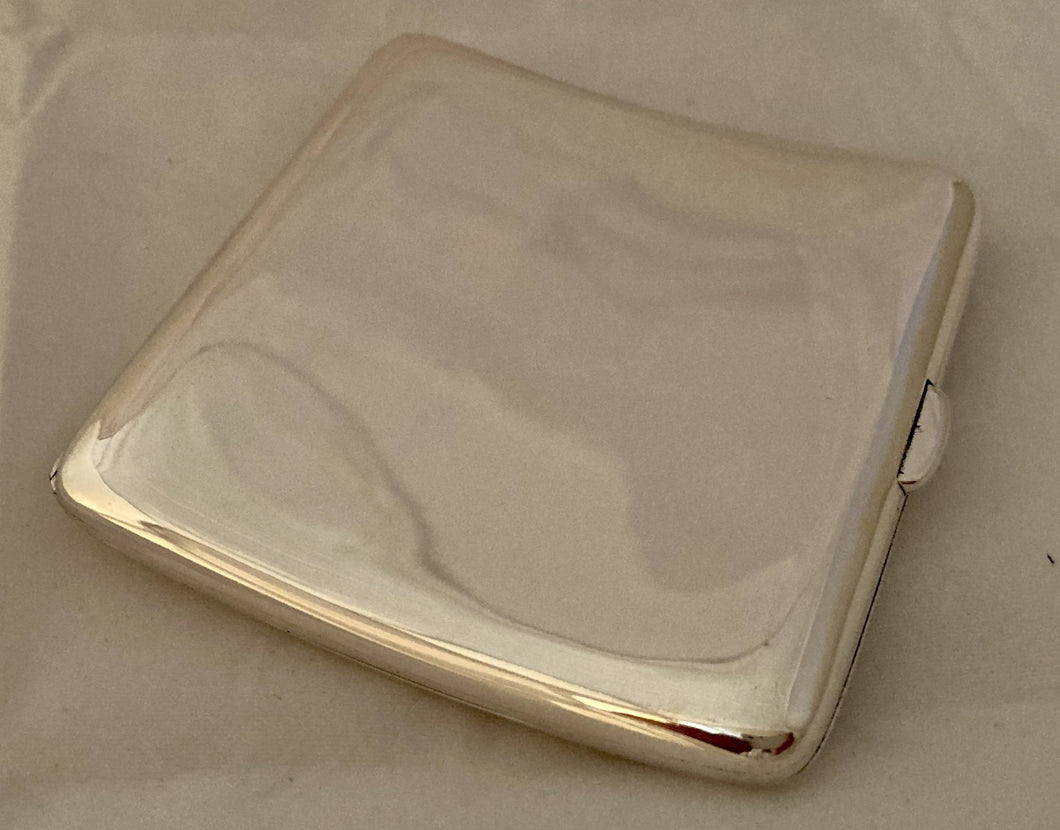 Asprey, George V, Silver Cigarette Case. Chester 1918 Asprey & Co. Ltd. 4 troy ounces.