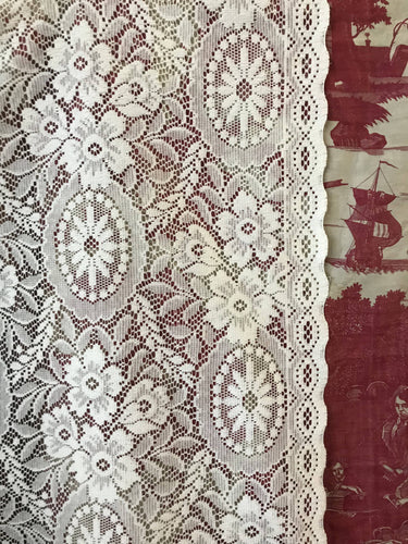 "Katarine A Beautiful Cream cotton lace available by The Metre- Width 50"" (125cms) cut to length required"