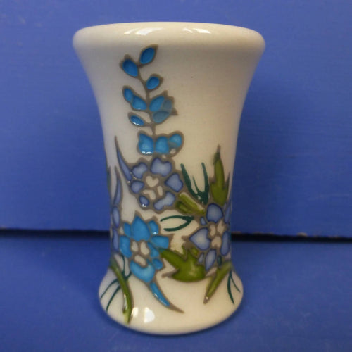 Moorcroft Miniature Vase Delphinium July Birthday By Nicola Slaney