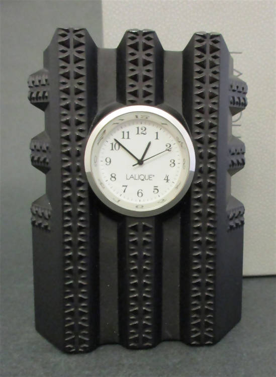 "Lalique ""New York"" clock"