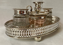 Georgian, George III, Old Sheffield Plate Pierced Gallery Inkstand, circa 1780 - 1800.