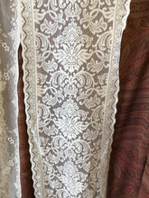 """Grace"" Antique Style Cream Cotton Lace Curtain Panelling Sold By The Metre - 12 Inches Wide"
