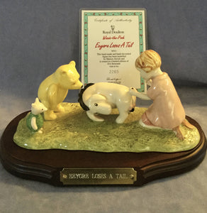 Royal Doulton Eeyore Loses A Tail Winnie The Pooh figurine figure WP 15 Limited Edition Boxed Certificate