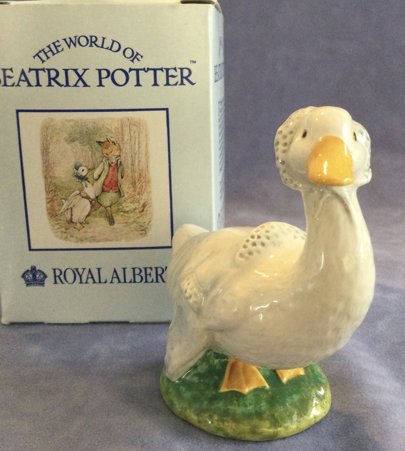 Royal Albert Beatrix Potter Rebeccah Puddleduck Duck Figure Figurine Boxed