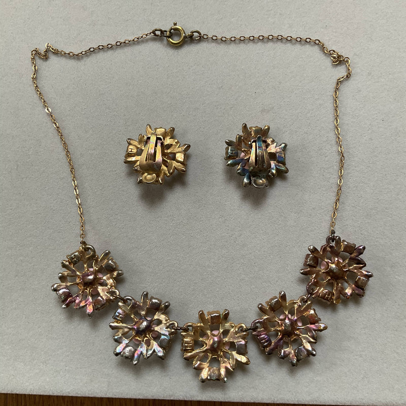 1950's necklace and earrings