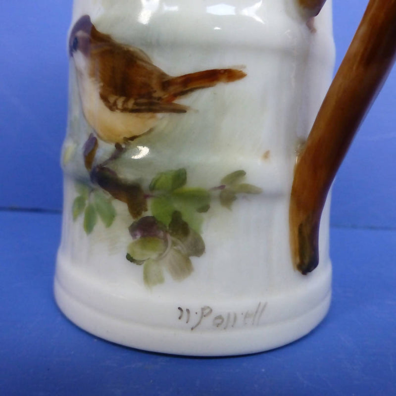 Royal Worcester Barrel Jug Wren Signed By William Powell C1928