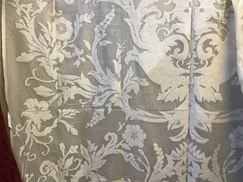 "Nina topend design Madras cotton lace curtaining 66""/54"""