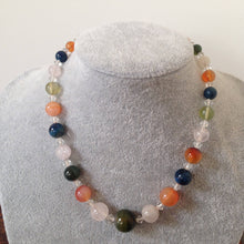 Vintage Agate and quartz bead necklace