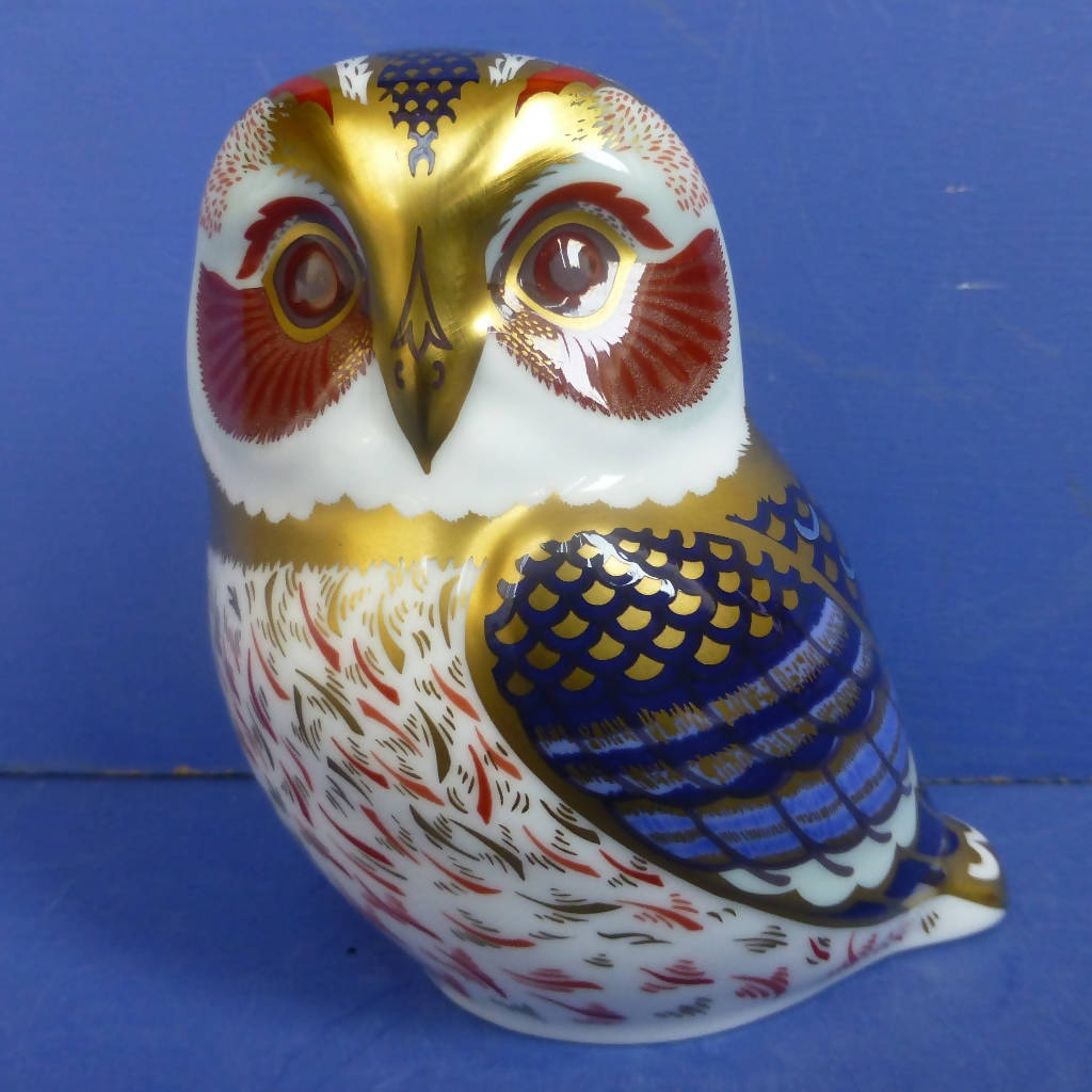 Royal Crown Derby Paperweight Tawny Owl (Boxed)