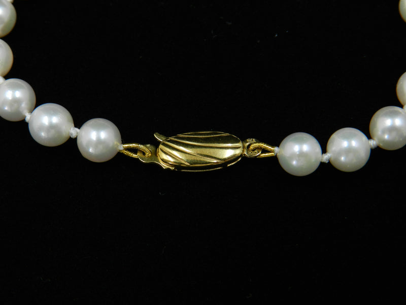 Cultured Pearl Bracelet Gold Clasp