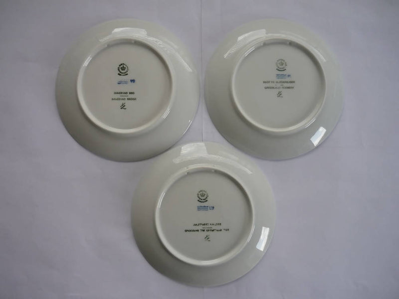 A Collection of Three Vintage Royal Copenhagen Plates 1977, 1978 & 1979. In Excellent Condition.