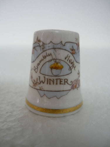 A Boxed Royal Doulton Brambly Hedge 'Winter' Thimble.