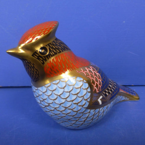 Royal Crown Derby Paperweight Waxwing (Boxed)