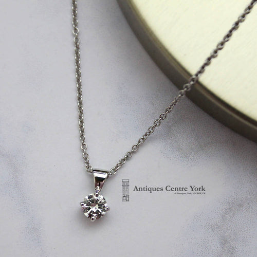 18ct White Gold & Diamond 0.30ct Pendant