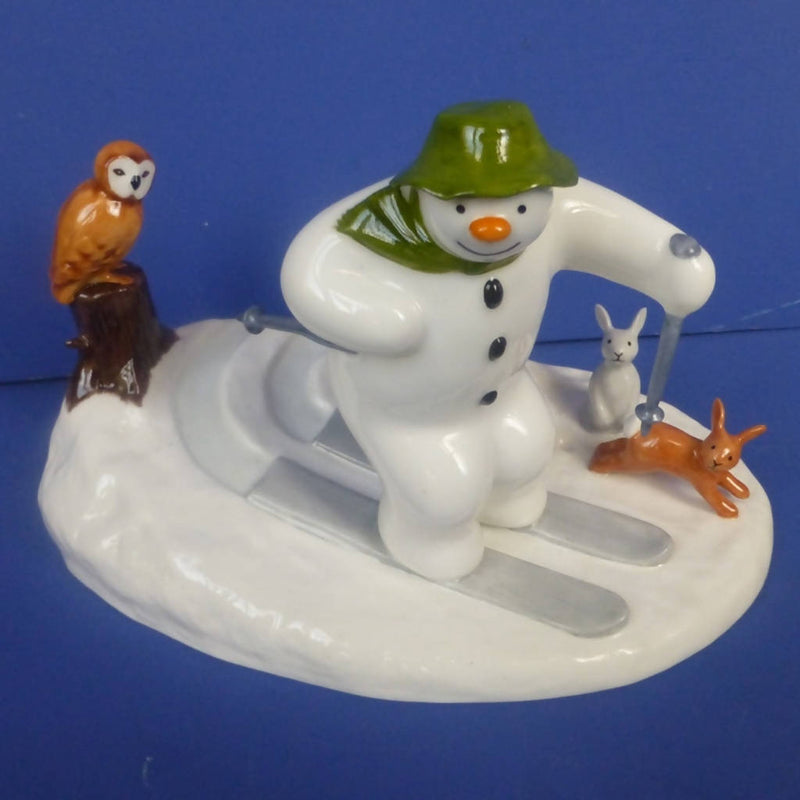 Coalport Limited Edition Snowman Figurine Off Piste (Boxed)