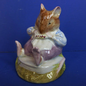 Royal Doulton Brambly Hedge Figurine - Mr Toadflax DBH10C (Tail at back, with cushion) - Boxed