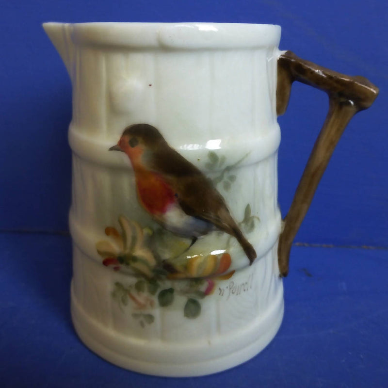 Royal Worcester Barrel Jug Robin Signed By William Powell C1926