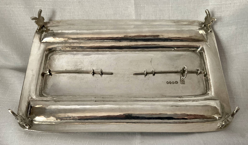 William IV Silver Inkstand. London 1834 Joseph Angell I & John Angell I. 13 troy ounces.