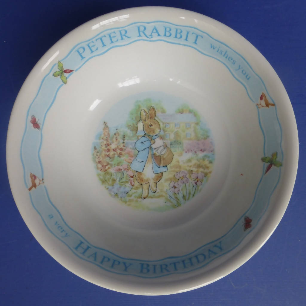 Wedgwood Beatrix Potter Happy Birthday Cereal Bowl