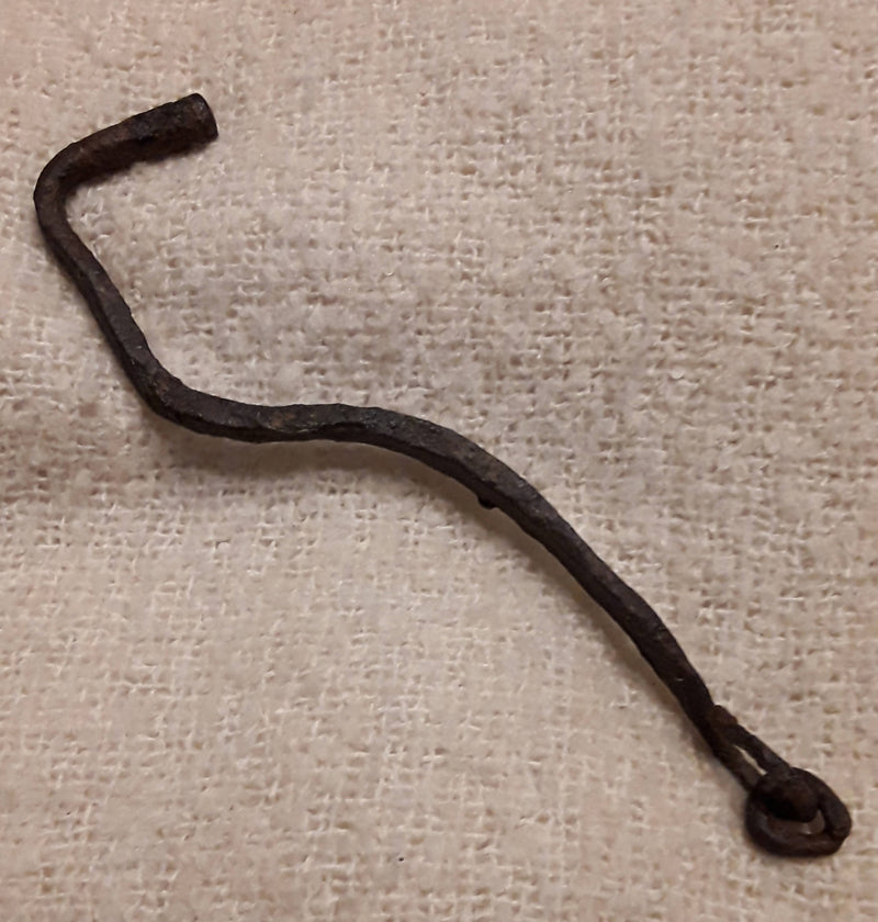 A Large Early Medieval Latch Lifter Iron Key.