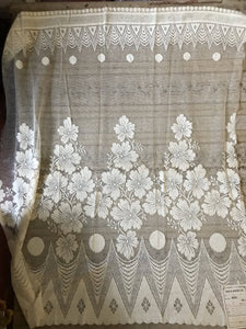 568c3d1fa6 Celie Vintage Arts   Crafts Design Scottish Cream Lace Curtain Panel - 32 x  36 Inches