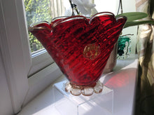 Murano Ruby Red with Aventurine prunts