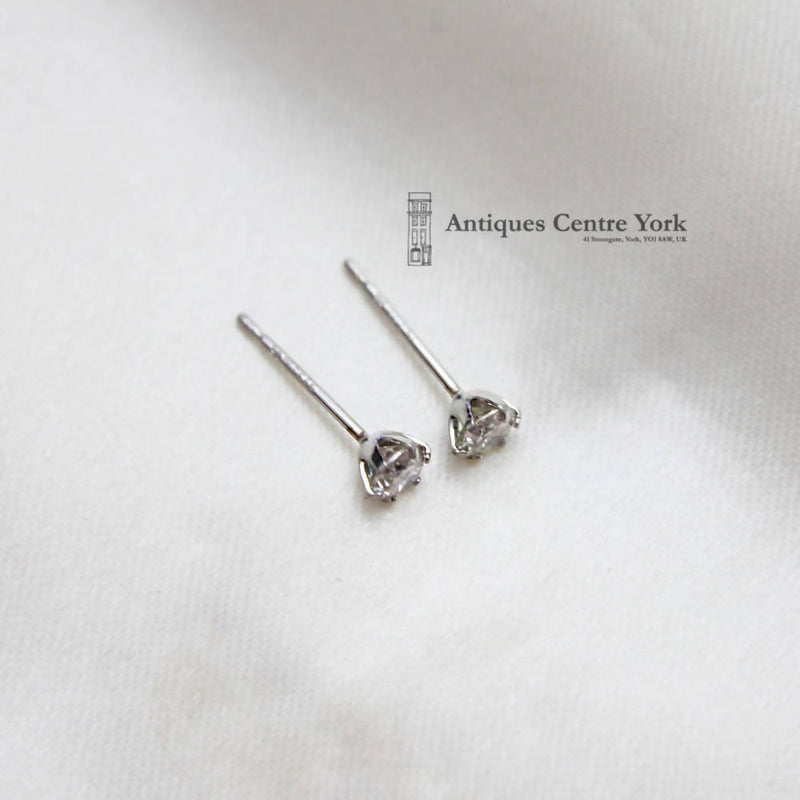 Platinum Diamond Solitaire Earrings 0.30ct