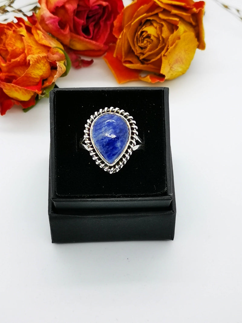 New Sodalite Hand Made 925 Sterling Silver Ring (Size N/O)