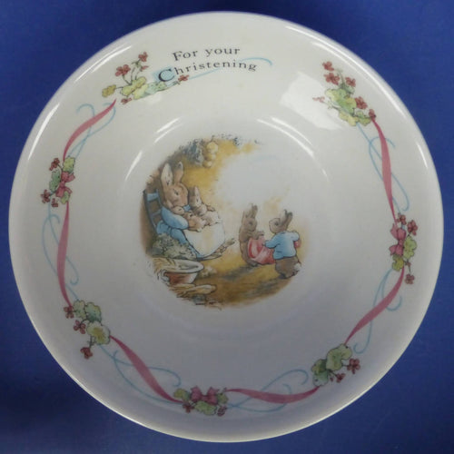 Wedgwood Beatrix Potter Peter Rabbit Christening Cereal Bowl