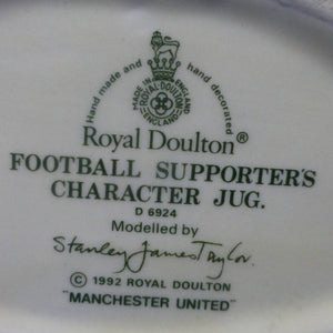 Royal Doulton Manchester United Football Supporters Small Character Jug D6924