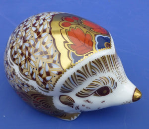 Royal Crown Derby Paperweight - Hawthorn Hedgehog (Boxed)