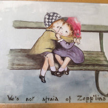 World War 1 watercolour cartoon