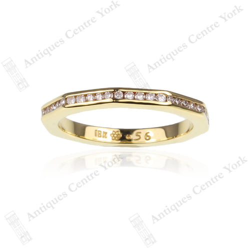 18ct Decahedron Diamond 0.56ct Full Eternity Ring