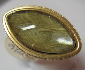 Georgian Gold Mourning Ring (Antique Hair Jewellery)