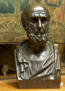 Bronze Sculpture Bust of Hippocrates by Chardigny 1854