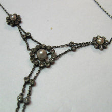 Antique Edwardian Paste and Faux Pearl Necklace