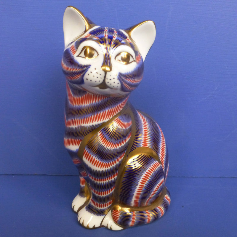 Royal Crown Derby Paperweight Cat