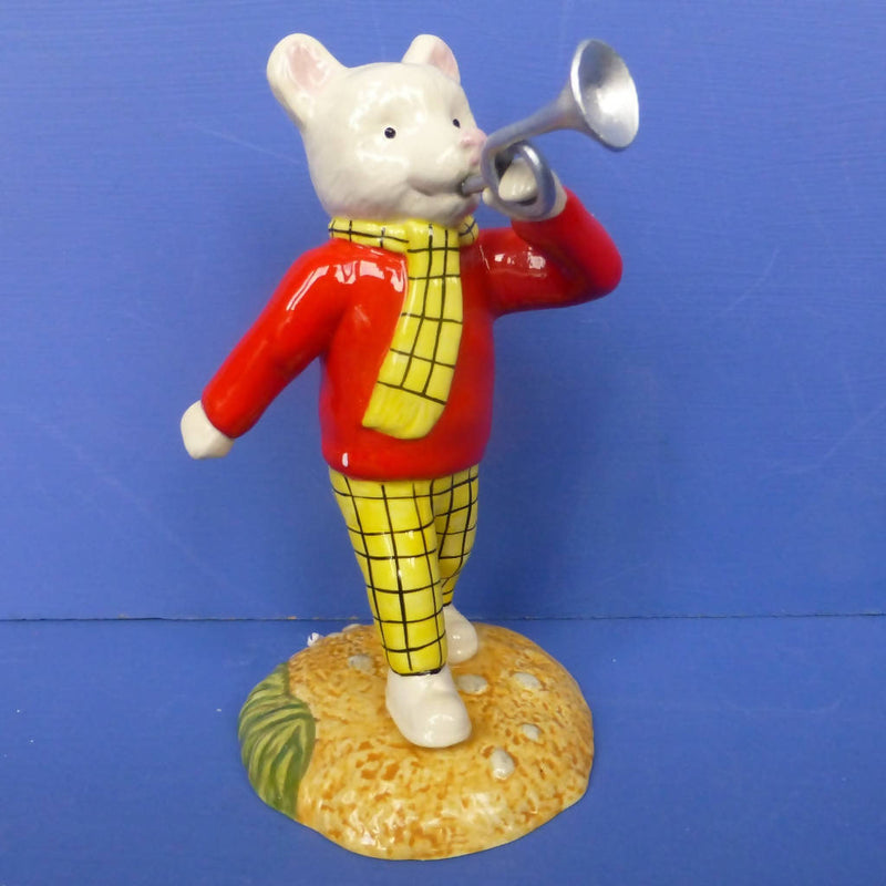 Royal Doulton Rupert The Bear Figurine - Rupert and The Silver Trumpet (Boxed)