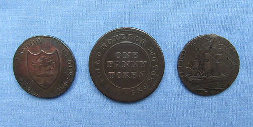 Collection Of THREE Vintage Trade Token (s)/Hull,Glasgow,Flint