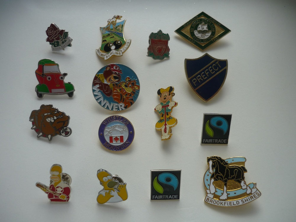 Collection of 15 Metal Badges.