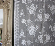 """Lucky Dip"" 2 x 1920s Vintage Arts & Crafts Victorian Lace mill Curtain Panels"