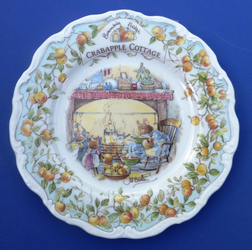 Royal Doulton Brambly Hedge Plate Crabapple Cottage by Jill Barklem