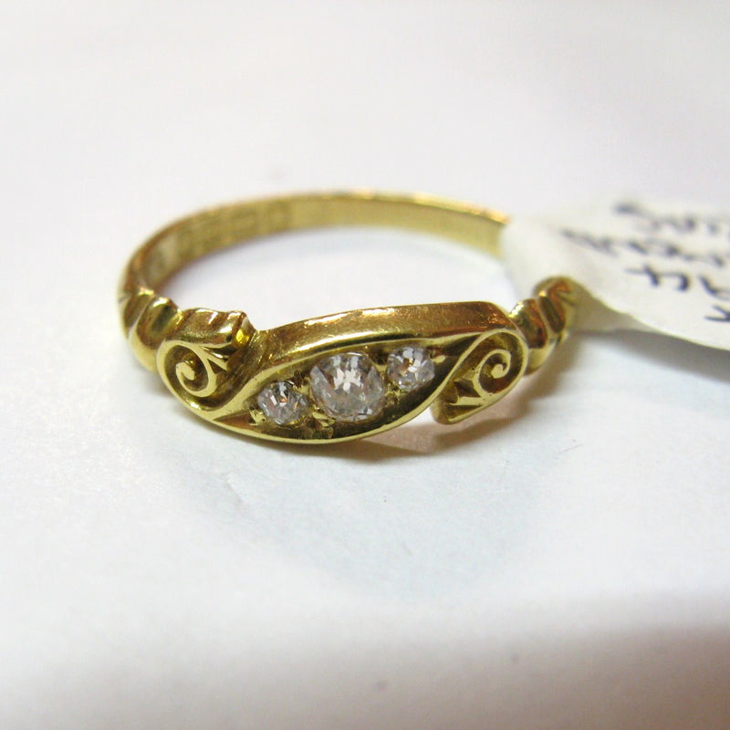 Victorian 1894 18ct Gold & Diamond Ring
