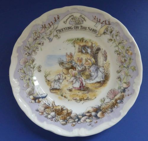 Royal Doulton Brambly Hedge Tea Plate Meeting On The Sands (Boxed)