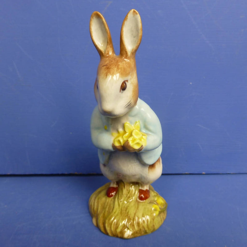 Royal Albert Beartrix Potter Figurine - Peter with Daffodils (Boxed)