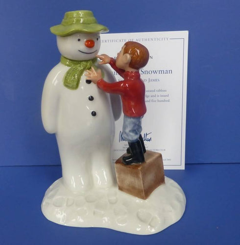 Royal Doulton Limited Edition Snowman Figurine - Dressing The Snowman