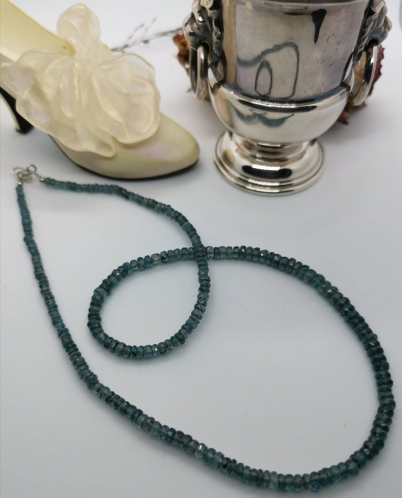 New Teal Kyanite 925 Sterling Silver Necklace 18""