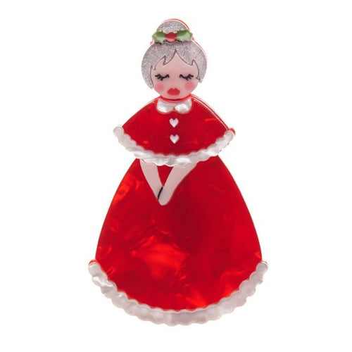 Erstwilder Mrs Claus Christmas Brooch 2016